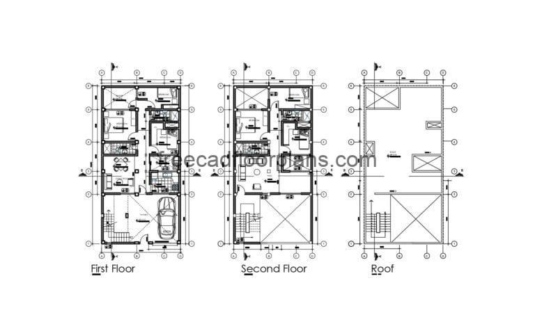 House Full Project Autocad Plan 1504202