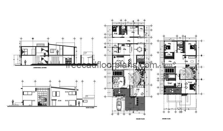 Two-story Residence Autocad Plan, 2604201