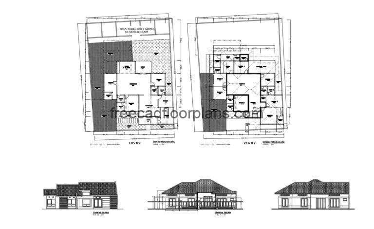 Country House Autocad Plan 1804202