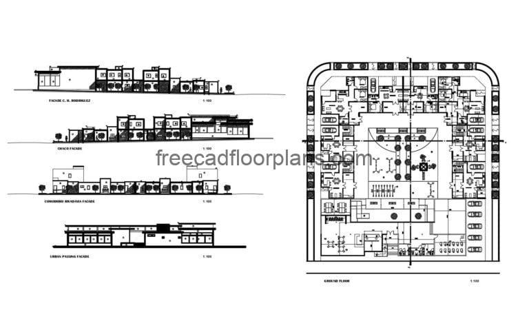 Public Housing Project, Full Project Autocad Plan 1704201