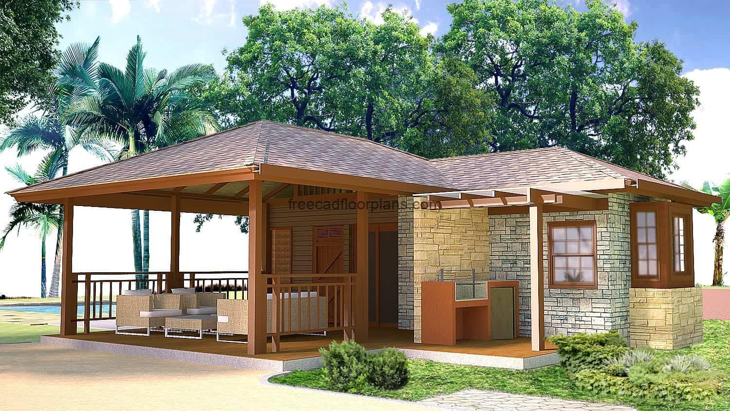 Bungalow house render