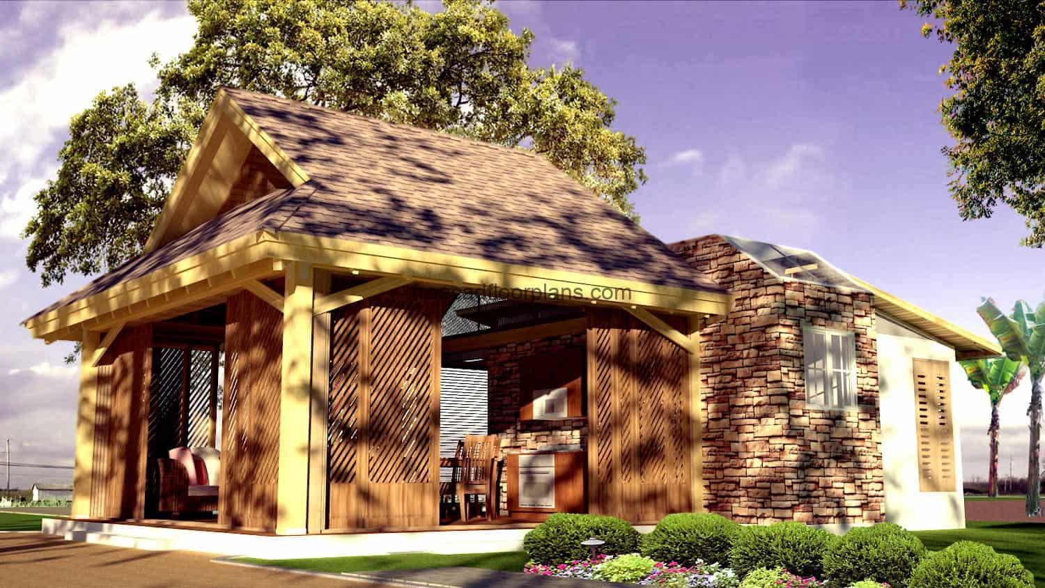 Progressive country house A render architectural project