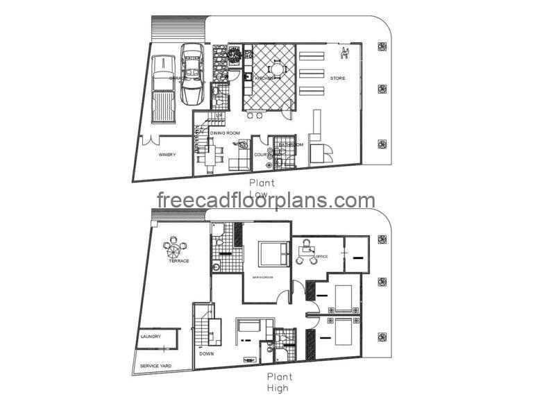 Two-storey Residence Autocad Plan, 1505202