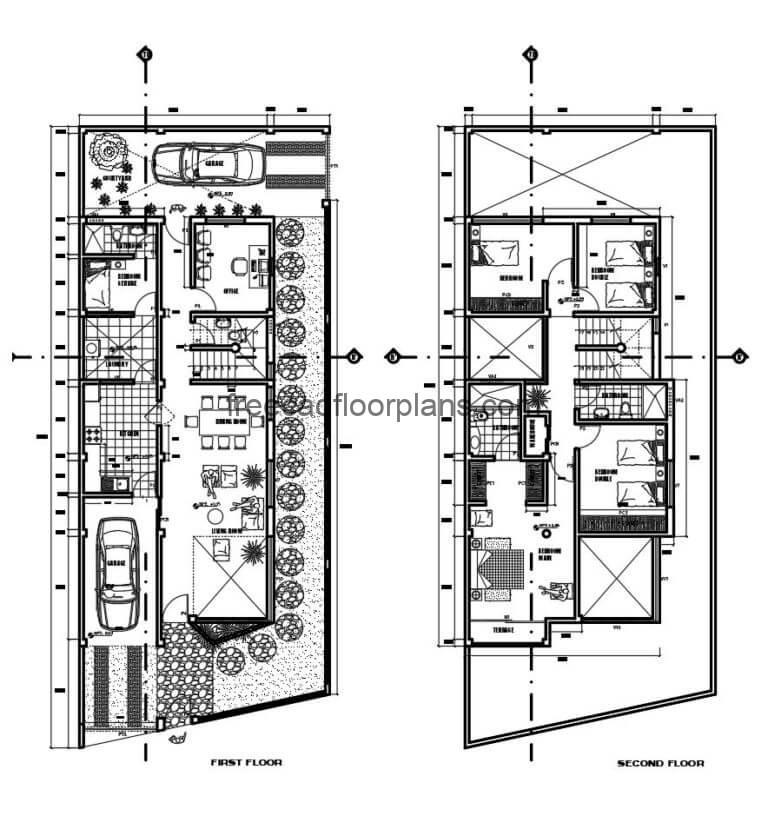 Two-storey Residence Autocad Plan, 3005202