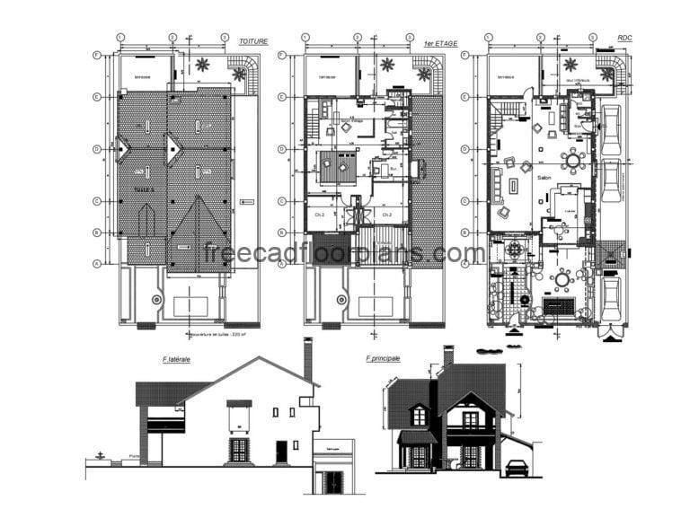 Country House Autocad Plan, 605202