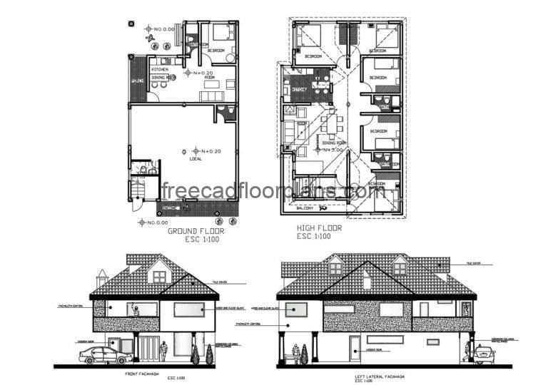 Country House Autocad Plan, 905202