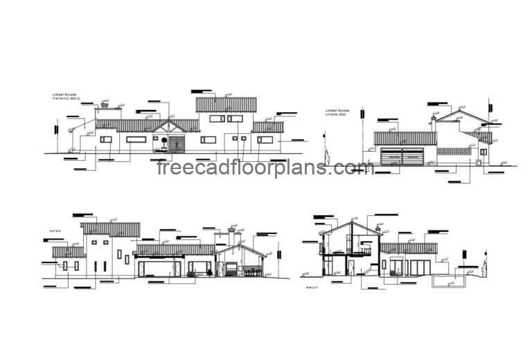 County House Autocad Plan, 0206201