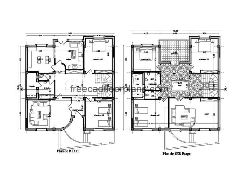 Country House Autocad Plan, 0306201
