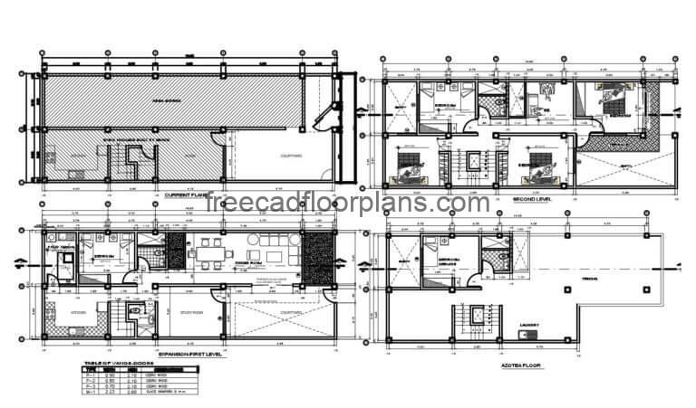 Two Storey Residence Autocad Plan, 1606201