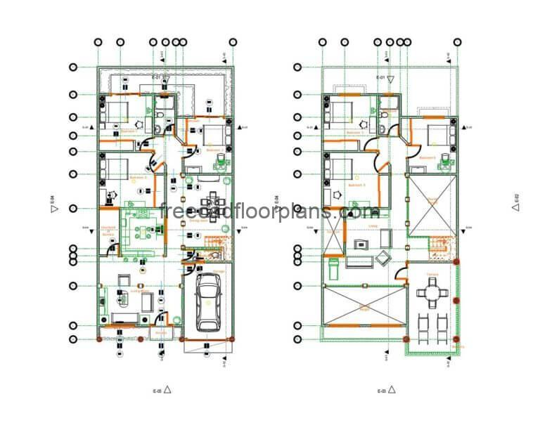 Two-storey Residence Autocad Plan, 0406202