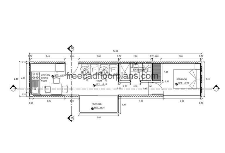 Container House Autocad Plan, 0106201