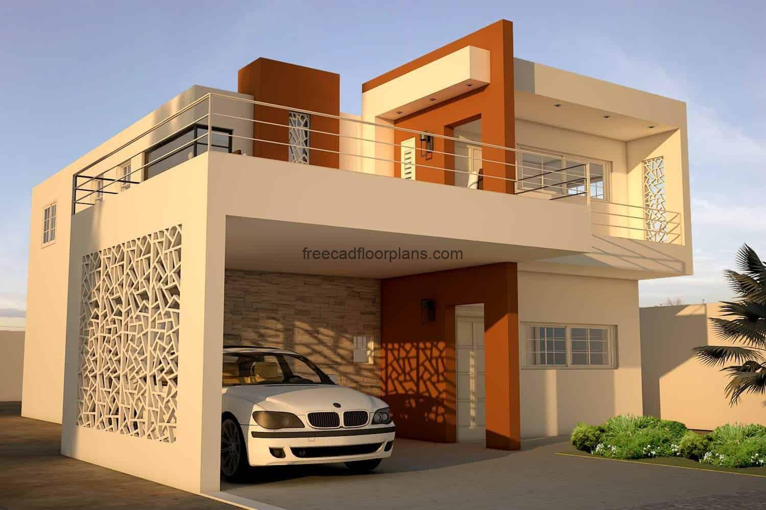 Modern house project perspective