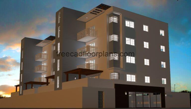 Low-cost Housing Project, Autocad Plan 0606203