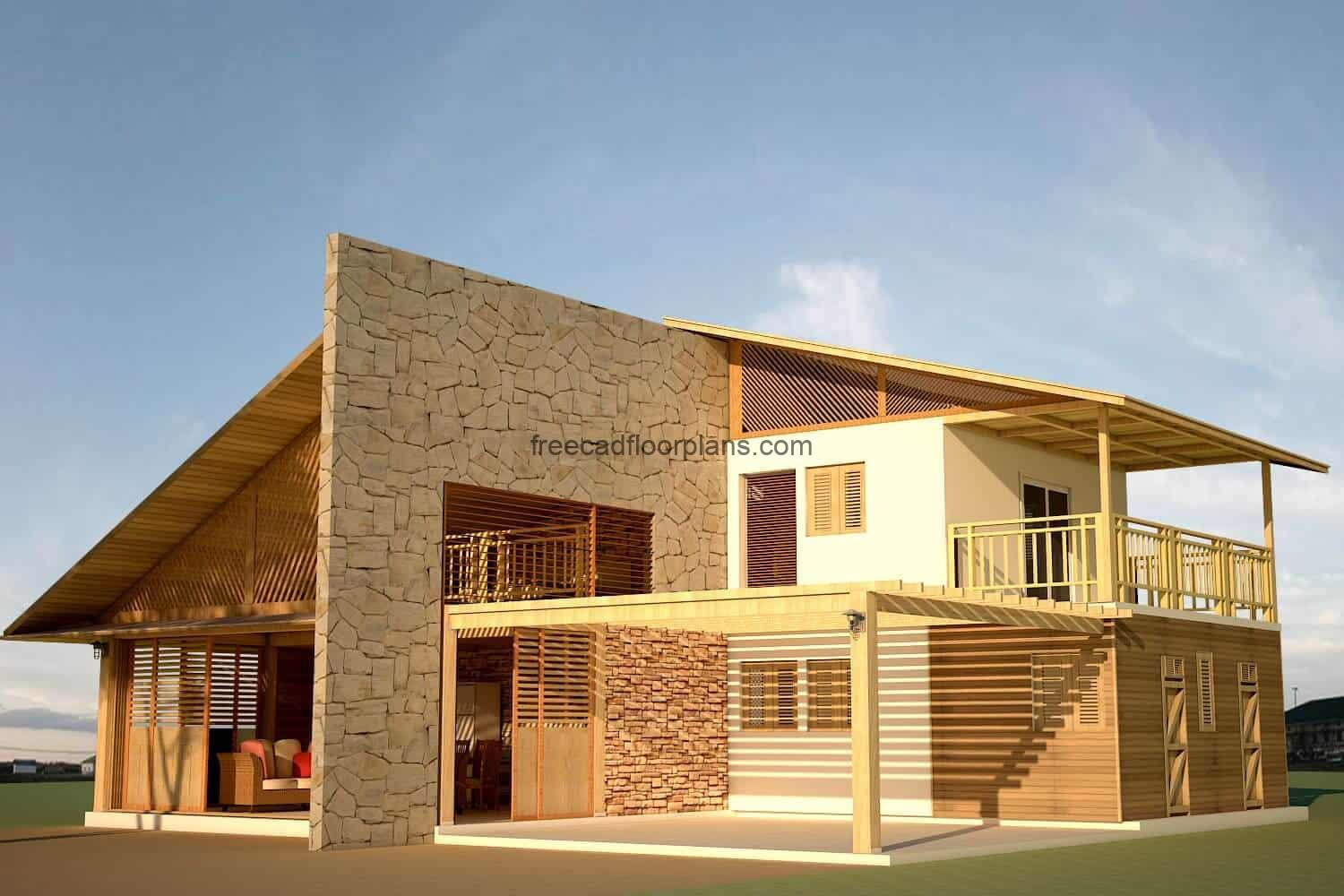 Country house design perspective view