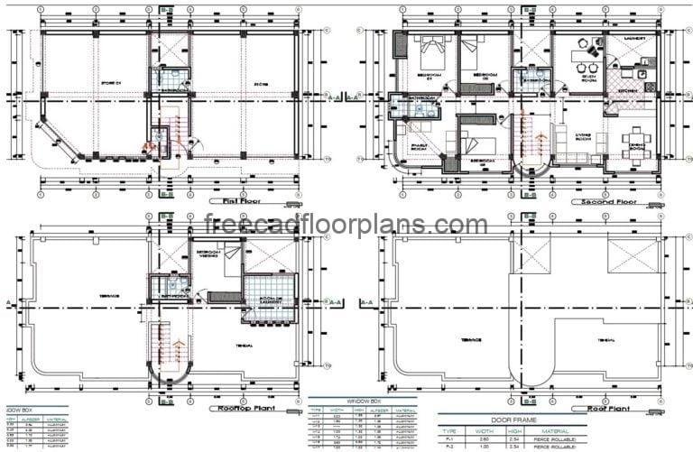 Mixed House and Commerce Autocad Plan, 2507202