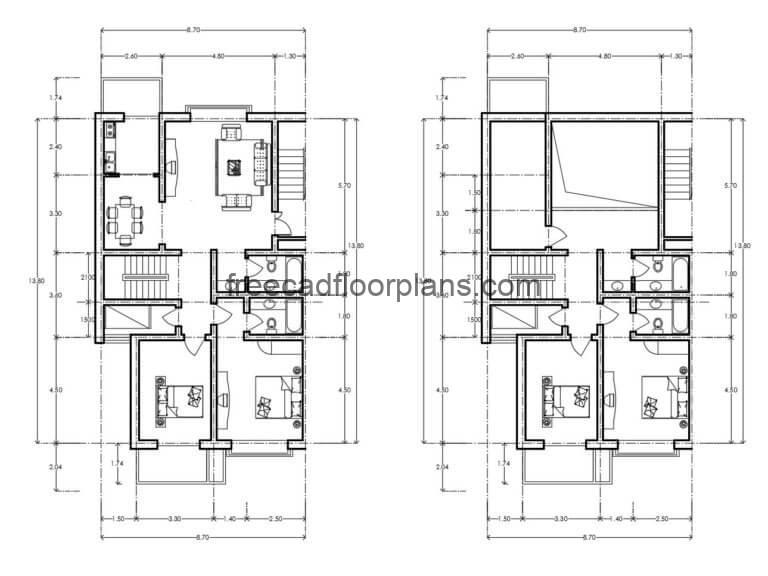 Residential Building Autocad Plan, 0507202