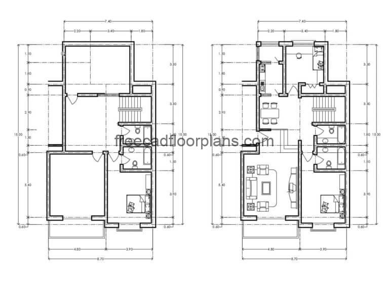 Residential Building Autocad Plan, 0607202