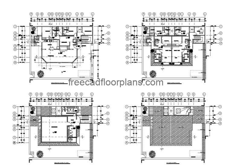 Two-Storey Residence Autocad Plan, 2607203