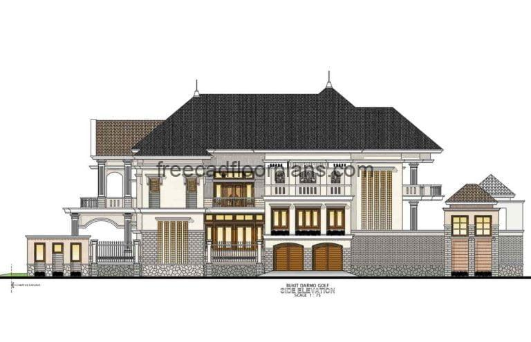 Two-Storey Residence Autocad Plan, 3007201