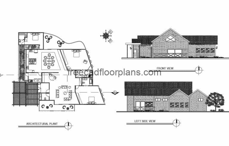 Country House Autocad Plan, 2908201