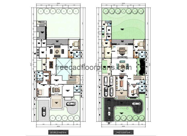 Two-Storey Residence Autocad Plan, 0808201