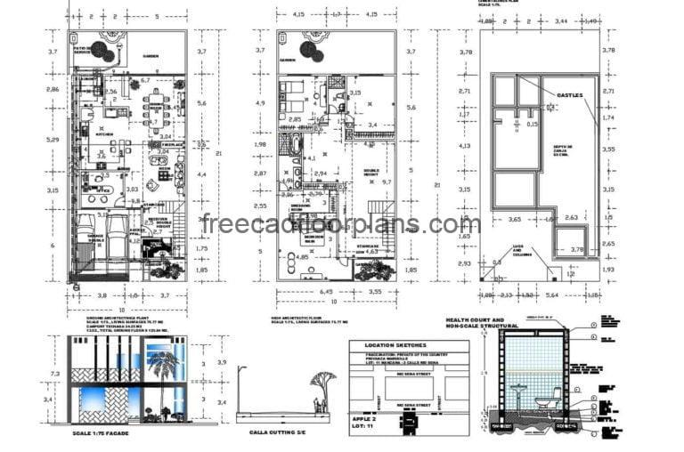 Two Storey Residence Autocad Plan, 1308202