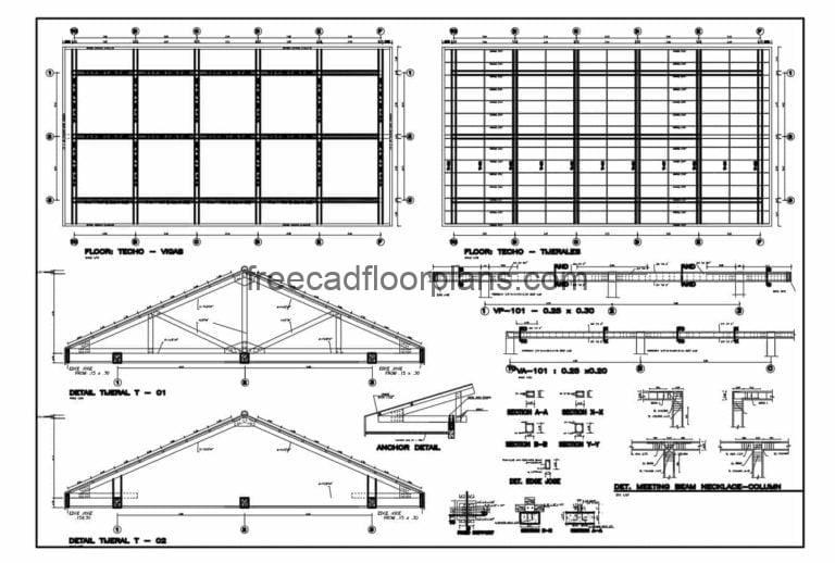 Wood And Metal Ceiling Details DWG Autocad, 0708201