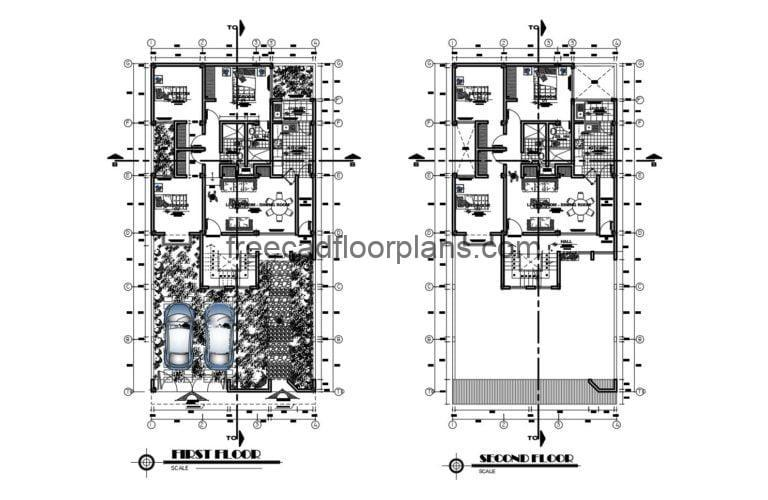 Two-Storey Residence Autocad Plan, 0809202
