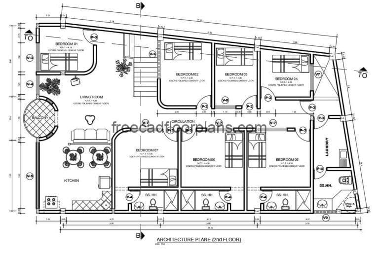 Residence And Commercial Space Autocad Plan, 1809201