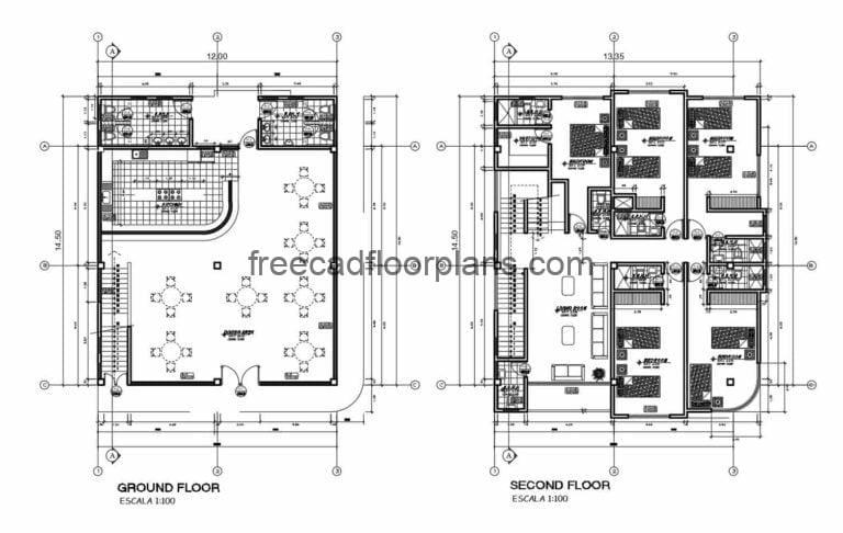 Mixed Commercial-residential Building AutoCAD Plan, 2910202