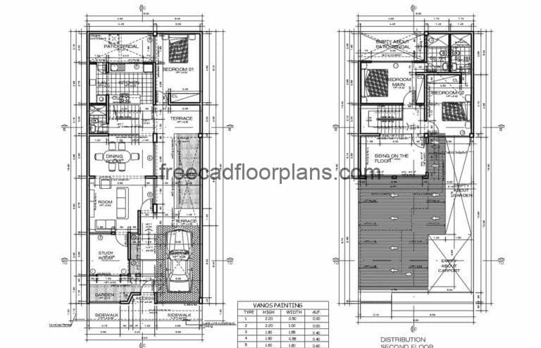 Two Storey Residence AutoCAD Plan, 1411201