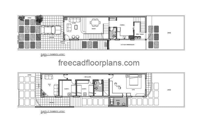 Two-storey residence AutoCAD Plan, 212201