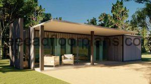 shipping container house plan DWG Autocad