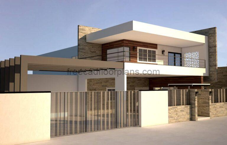 Modern House on Two Storeys, 2203211