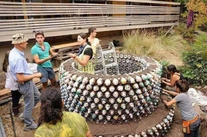 How to Build a House With Plastic Bottles (Step by step Process)
