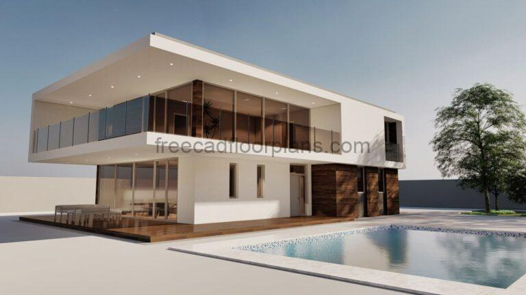 Modern Minimalist House With Swimming Pool, 704211