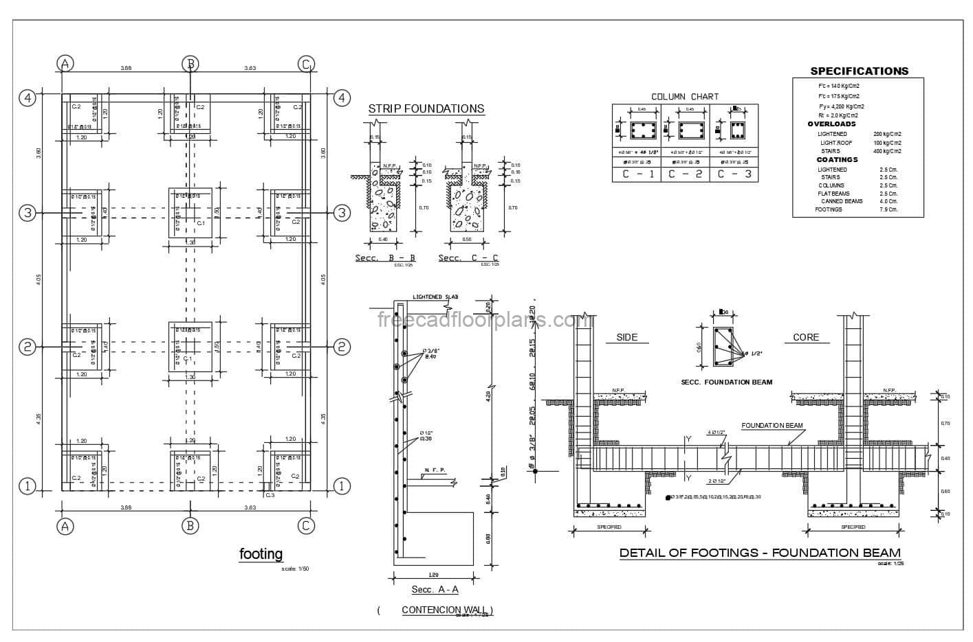 Column And Footing Reinforcement Details For free download