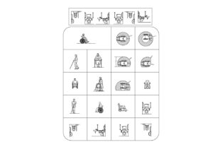 Handicapped People, Bathrooms And Equipment Autocad Blocks, DWG files for free download