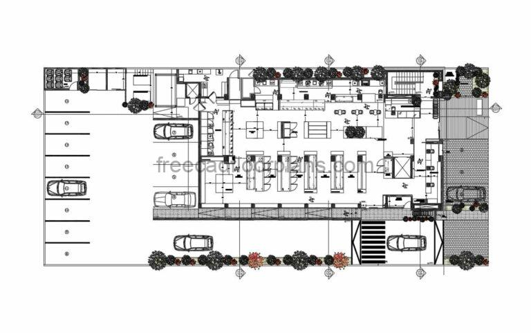 Complete Grocery Store, AutoCAD Plan
