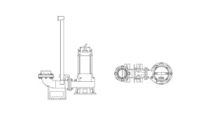 Submersible Water Pump, AutoCAD Block for free download